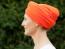 Turban oranžová bok